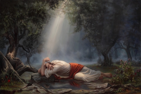 Jesus in the garden of Gethsemane